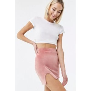 FOREVER 21 Faux Suede High Waist Mini Short Skirt